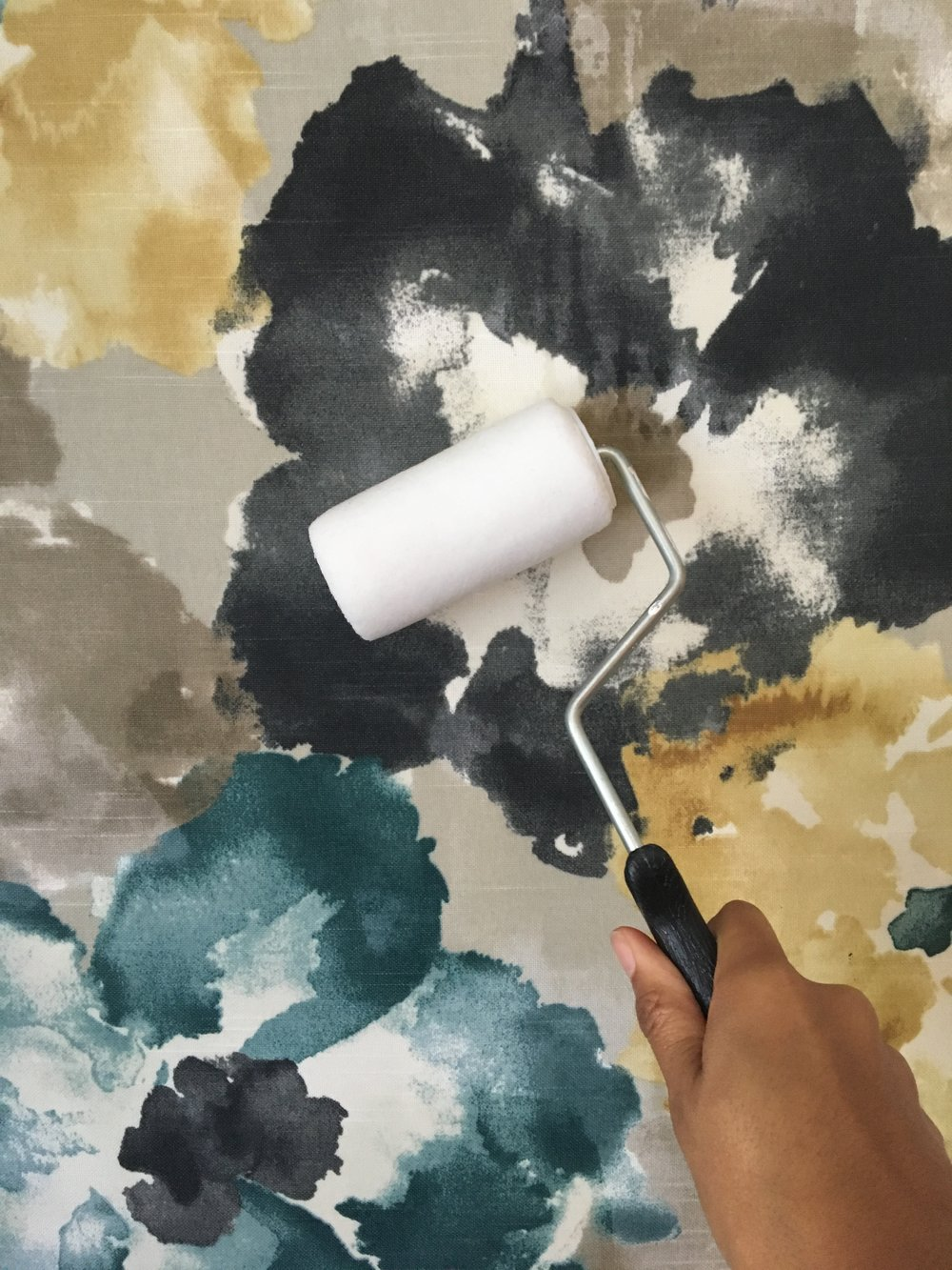 diy fabric wallpaper liquid starch