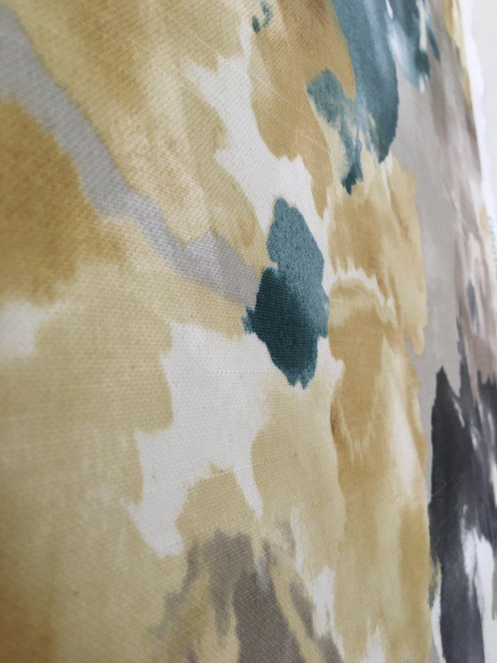 diy liquid starch fabric wallpaper how to