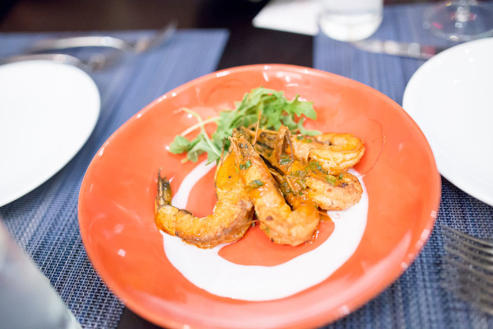 These jerk prawns were amazing!