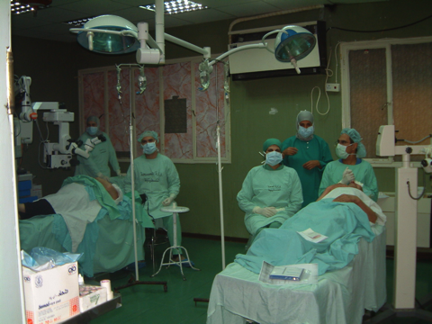In the operating theatre together with Dr Ernesto Basauri.