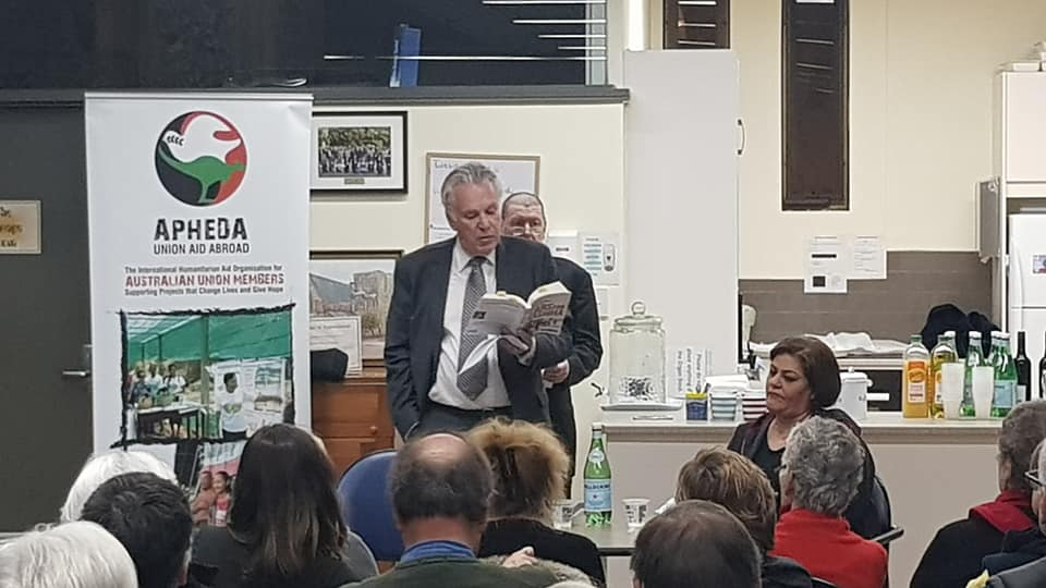AFOPA Patron, Paul Heywood-Smith QC, introduced Olfat and her new book.