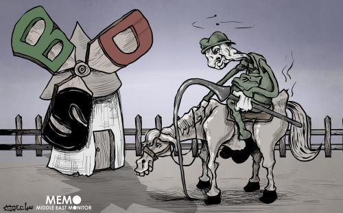 Powerless Israel facing BDS – Cartoon [Sabaaneh/MiddleEastMonitor]