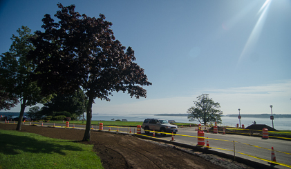 The narrowed roadway will slow traffic and enhance the Eastern Promenade.