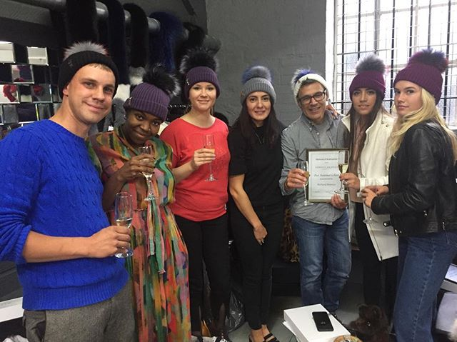 The @rebeccabradleylondonfur #summerschool #graduation #firstclass #workhard @bklynconcepts #bobblehats #goodiebags