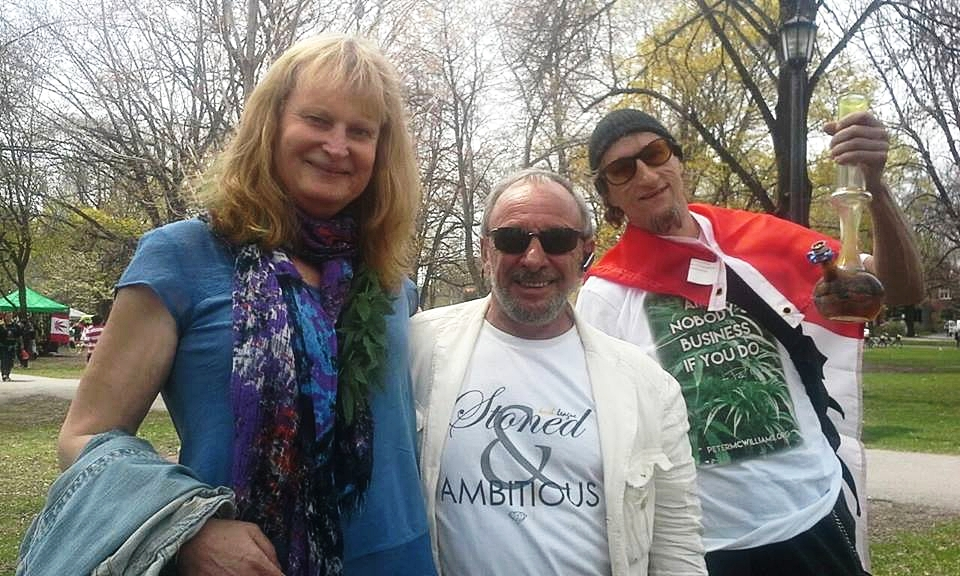 Cannabis activists Sandra Petite,  Sam Mellace , and Michael J. Kaer
