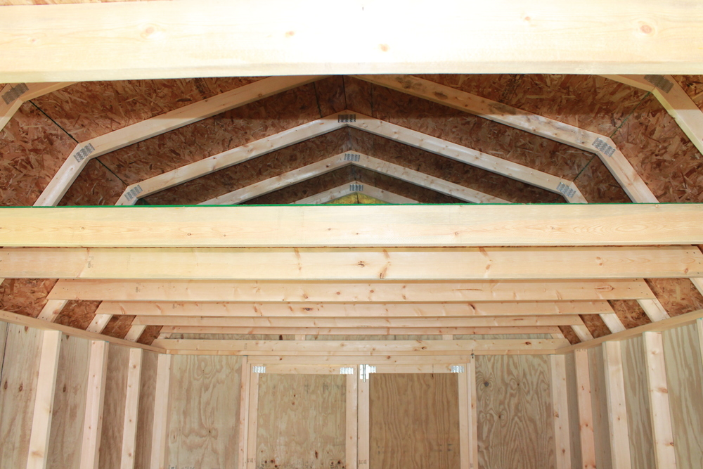 spacious loft area in pressure treated lofted cabin with covered porch.JPG