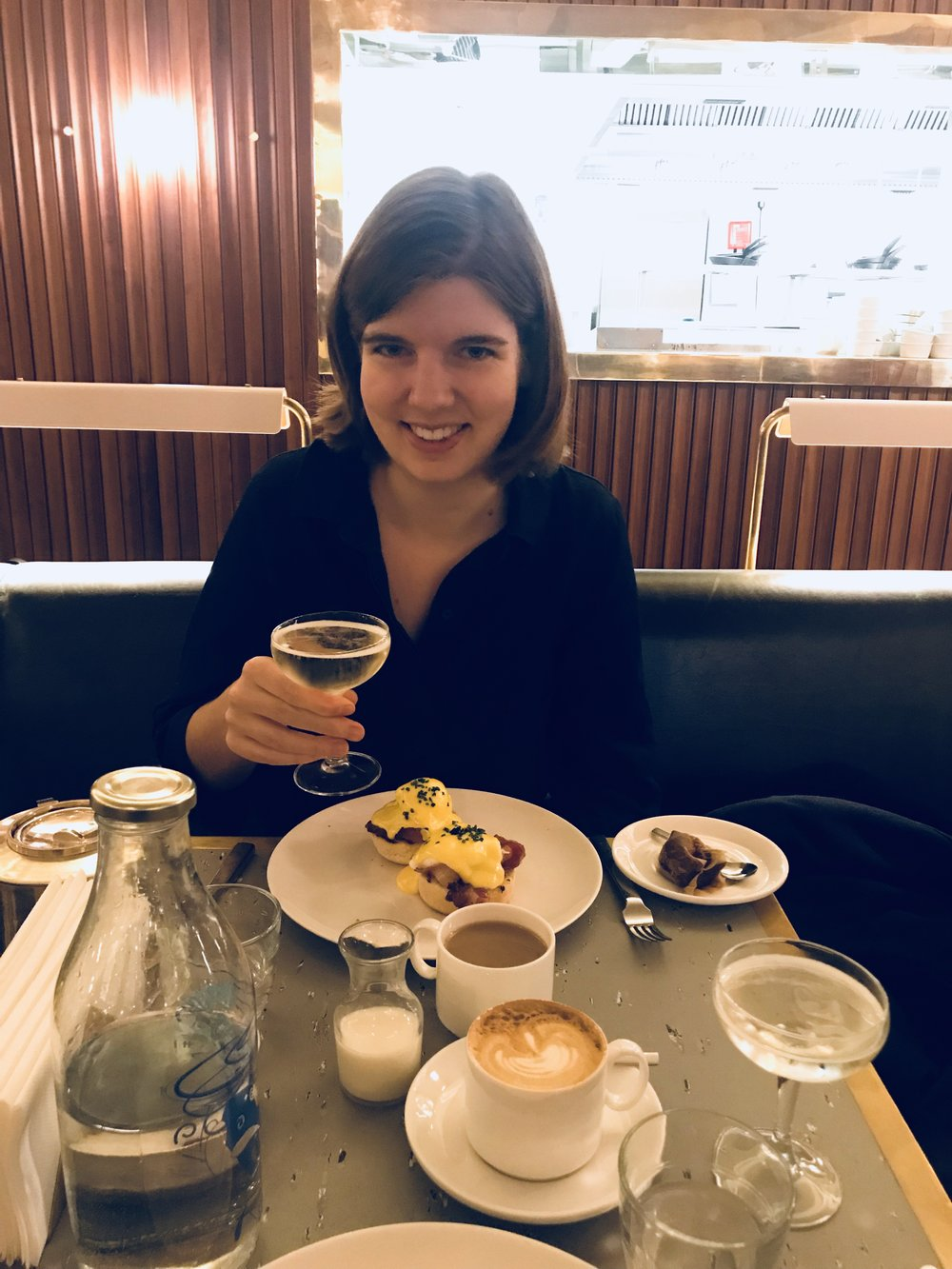 Celebratory brunch on Monday at 8am, just after the first offer came through, and at the start of the maddest, most joyous week of my life
