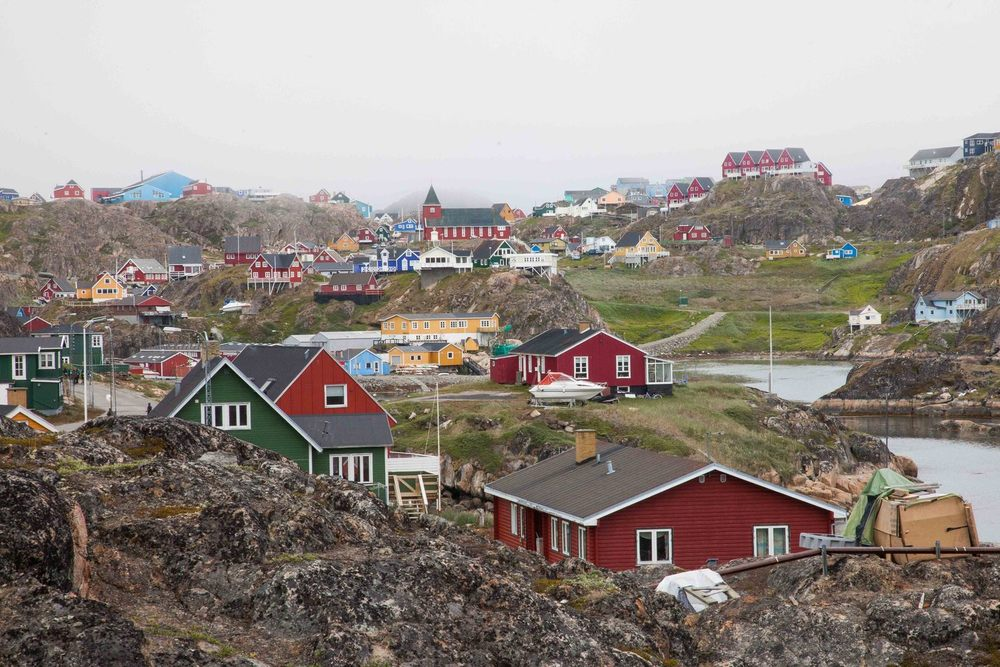 The Greenlandic town of Sisimiut, more of my expedition photos can be found at https://www.flickr.com/photos/gabriellefoss/