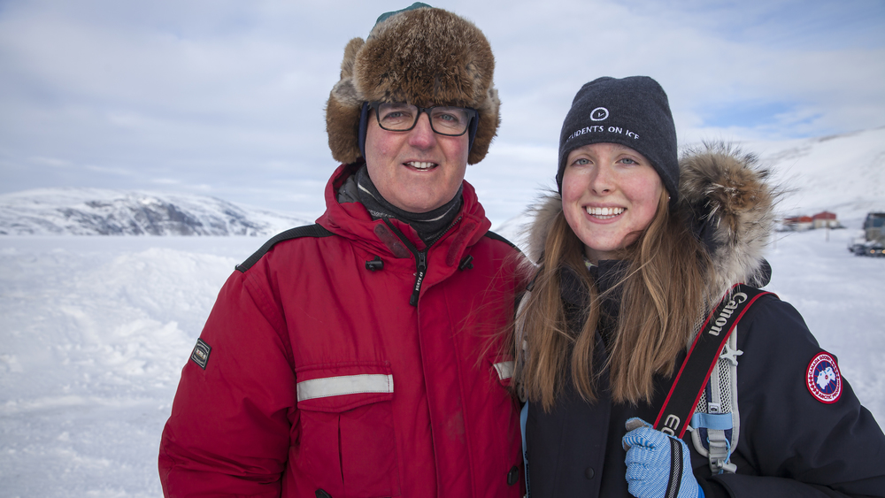 Northern Lights videographer Eric Foss with daughter, and NIF Co-founder, Gabrielle Foss