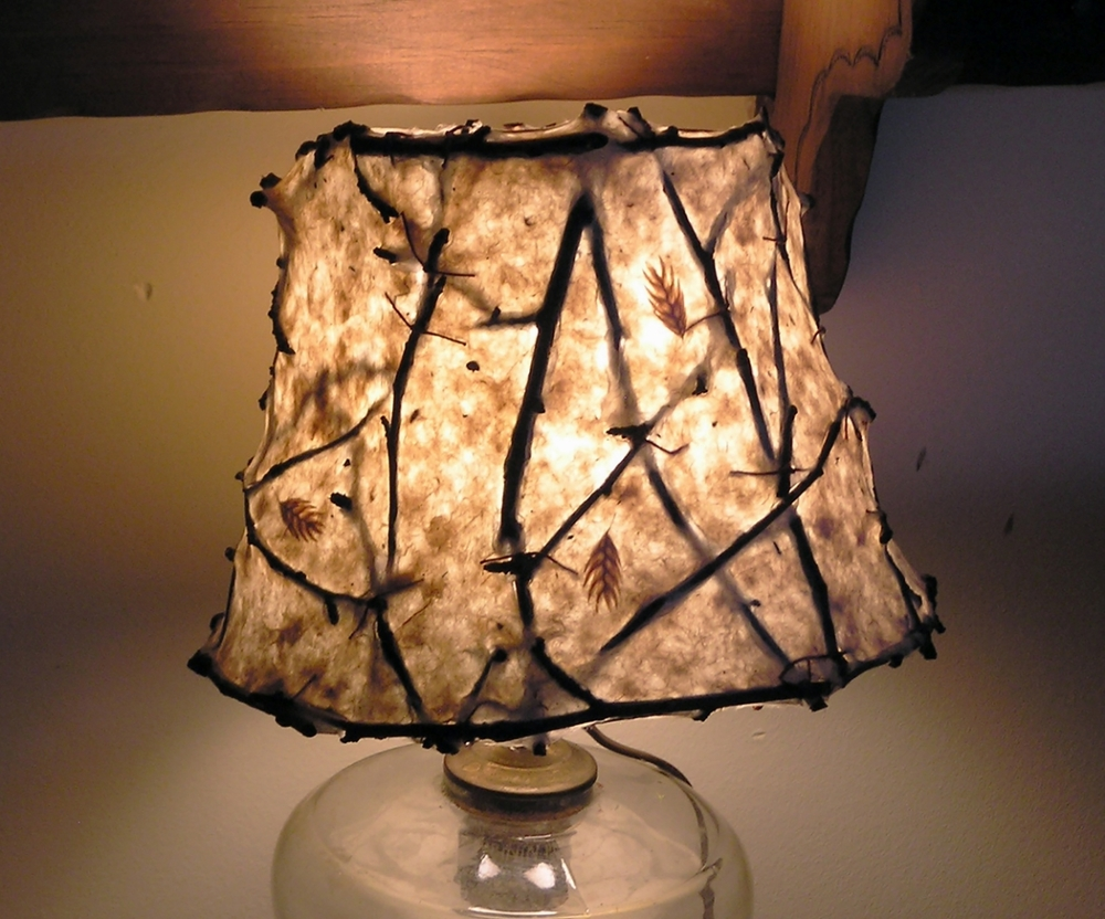 Excellent lampshade by Anita Drexler.