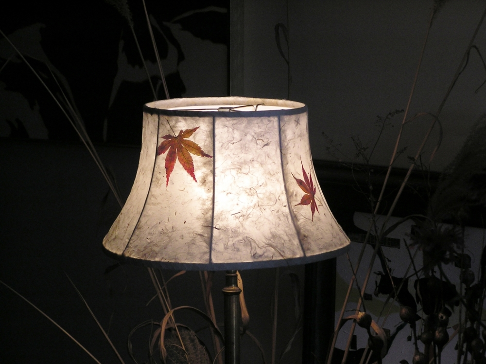 Catherine's beautiful handmade paper lamp shade.
