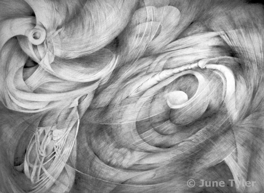 """Of Water"" 2011 30"" x 22"" Graphite Drawing"