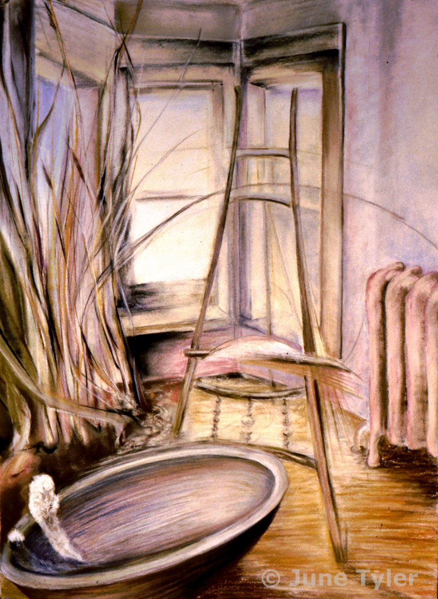 """Interior Series"" 2002 Pastel Drawing 22"" x 30"""