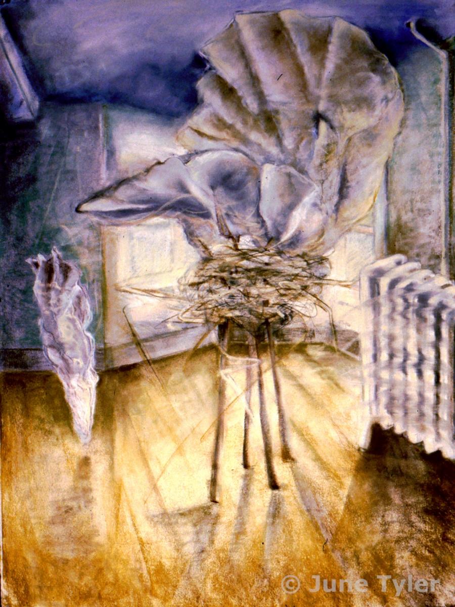 """Interior Series"" 2002 Pastel Drawing 22"" x 30"""