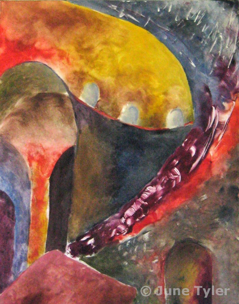 """""""Basilica di S. Marco"""" 1988 Oil Monotype 10"""" x 8"""" (image size)"""