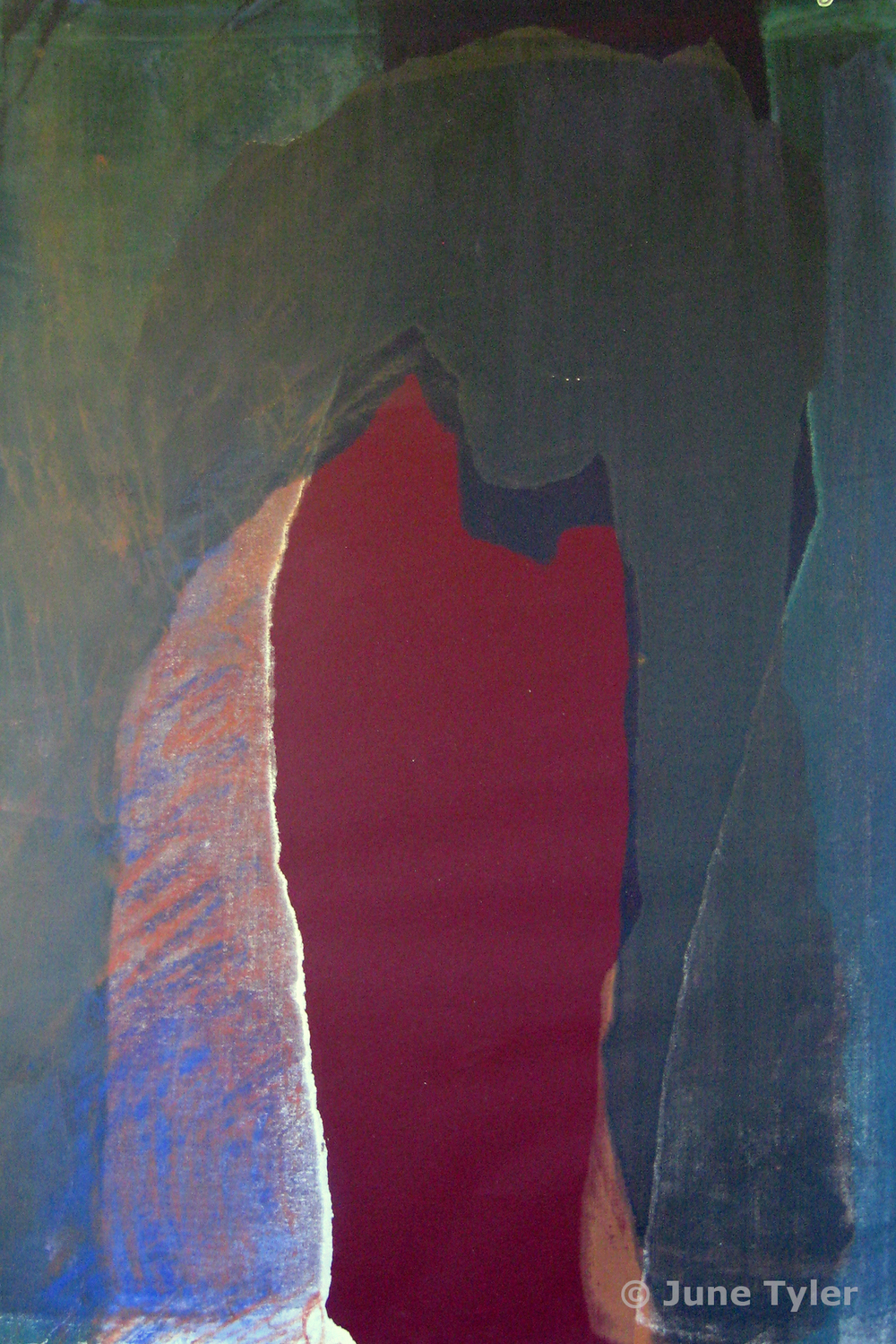 """Cave series"" 1989 Silkscreen monoprint 22.5"" x 15 1/8"""