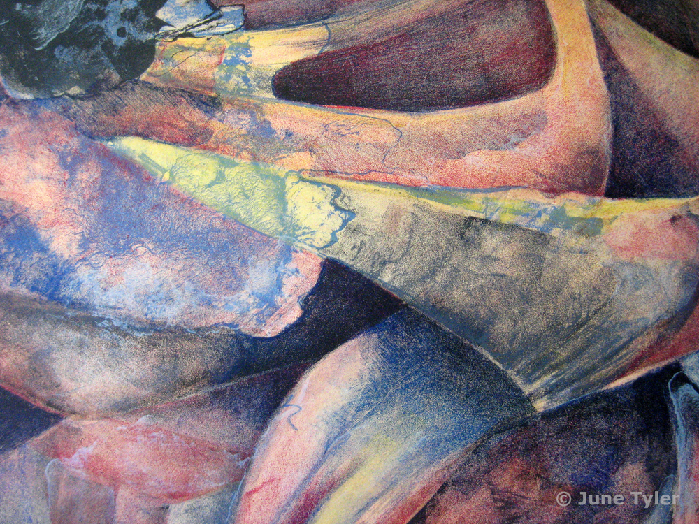 """detail of """"Night Journey"""" 1987-1988 Color Lithograph"""