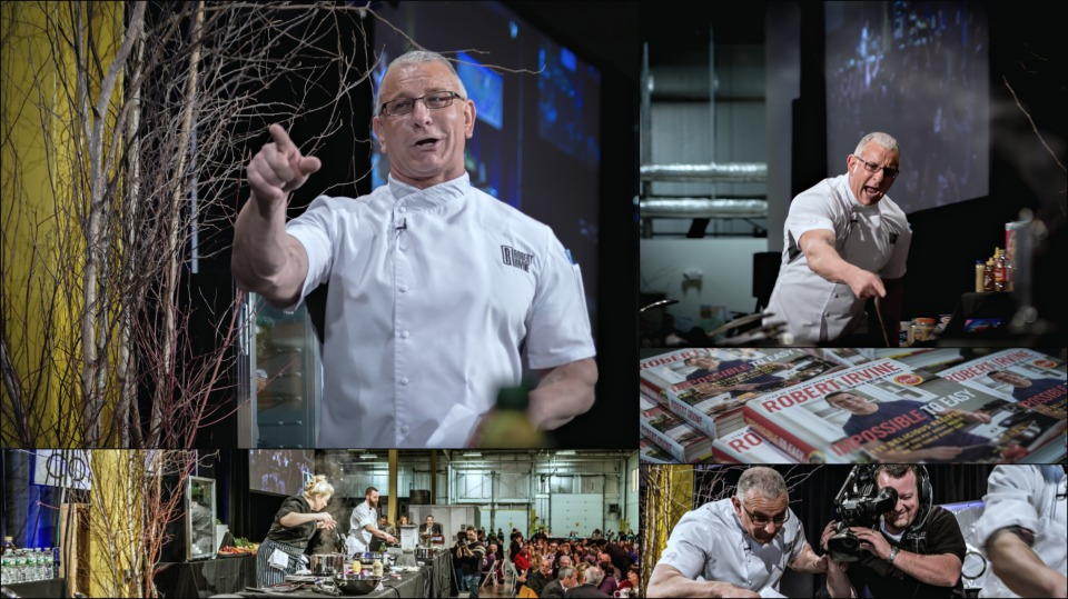 Chef Robert Irvine, Food Network, New Hampshire Food Bank