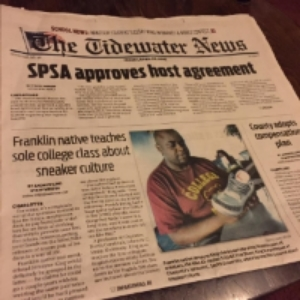 TideWater News, Front Page Article - Andrew Lind