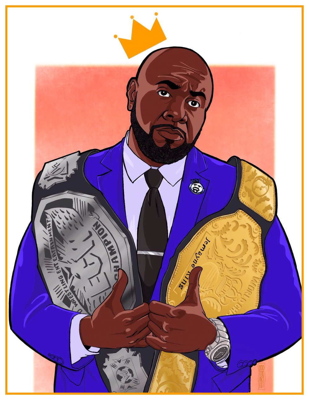 The (double) champ is here! S/O to @GeeTheArtist.