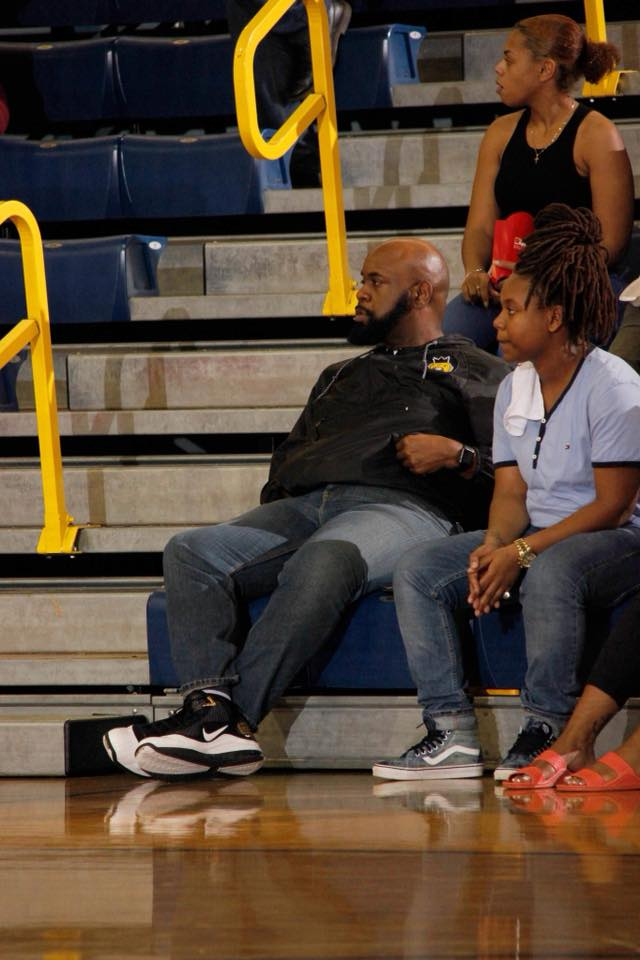Supporting JCSU WBB  (Photo Credit: Joshua Nypaver)