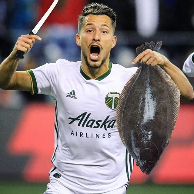 Looking to hire this guy at Wilder Land and Sea... he's just so good at gutting flounders!  #rctid #ptfc #portlandtimbers #onwardrosecity #mlsplayoffs