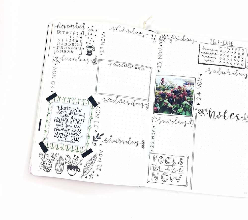 A little snapshot of my Bullet Journal - I love using this, it has to be a favourite resource for sure!