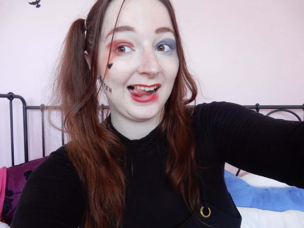 beauty blogger harley quinn suicide squad make-up tutorial