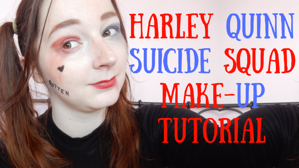 harley quinn suicide squad make-up tutorial beauty blogger