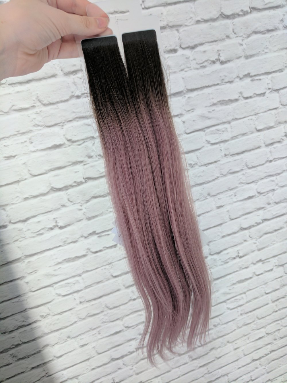 beauty works celebrity choice slim line tape extensions metallic mauve