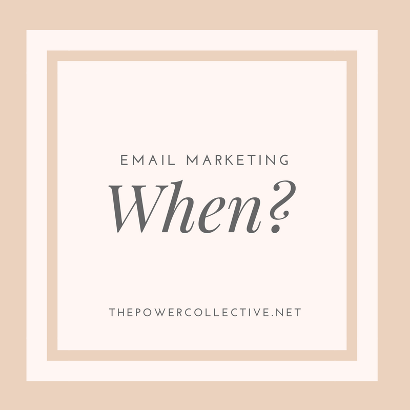 When should you start email marketing?