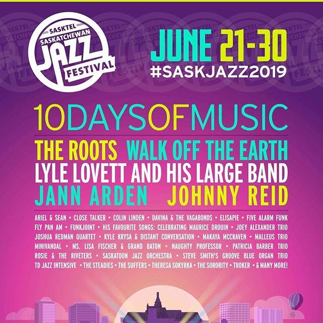 Stoked to announce that we'll be back again at this year's @saskjazz Festival! We'll be kicking off the festival on June 21st opening up for @naughty_professor !!! #minivandal #naughtyprofessor #saskjazz #saskjazz2019 #yxemusic #saskmusic #turnlefthere #partytime #ska #rock #reggae #latin