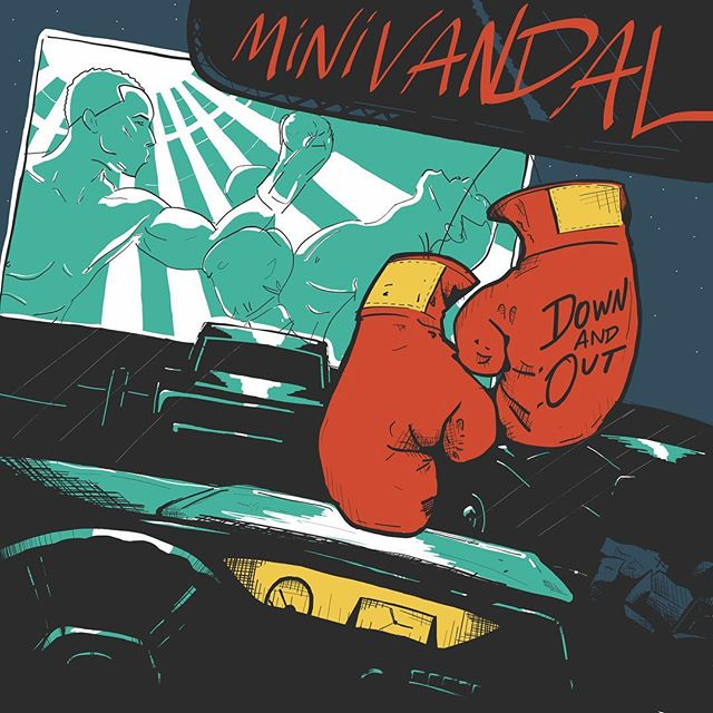 """New single """"Down and Out"""" available everywhere May 1, 2019!!! Pre-save it on Spotify today (link in bio)! Artwork by the talented @isherrard #minivandal #newmusic #newsingle #downandout #spotify #presave #saskatoon #saskatchewan #yxemusic #saskmusic #horns #cantwait #knockout #boxing #fighting #fightmusic #fightclub #donttalkaboutfightclub #sorry #canadianmusic"""