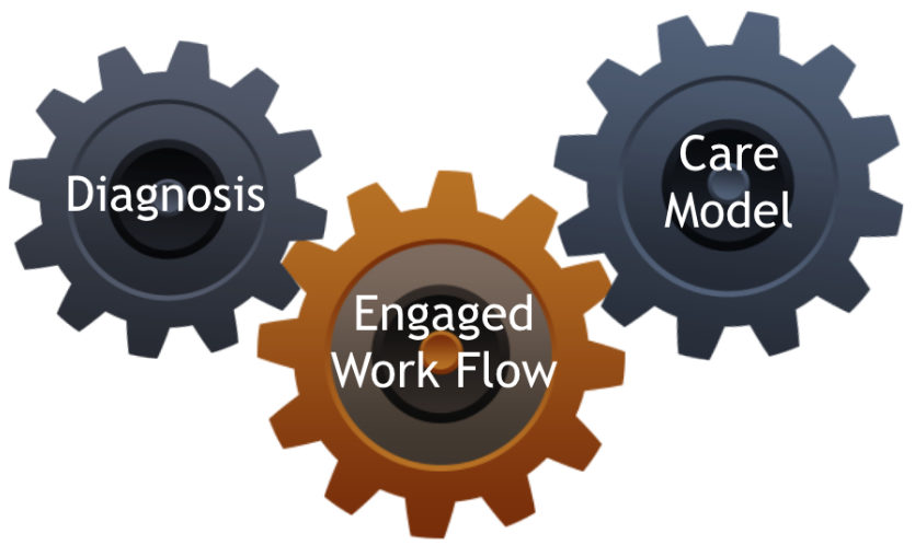 Diagnosis and Treatment are the two fundamental processes of clinical care: Both can be improved by your active engagement.  CCI's Engaged Work Flow helps you to drive up the quality of diagnosis and accelerate the process of optimizing your treatment .