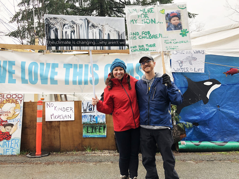 Kinder Morgan Protest, Burnaby Mountain, April 7th 2018  | With my lifelong friend, Wes McVey.