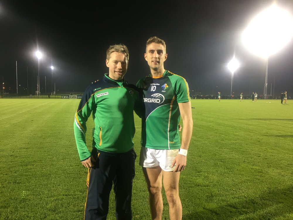 Photo: The Cavan connection - Eamon O'Reilly (physio) & Killian Clarke