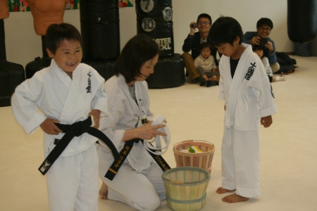 The birthday boys turn from white belts to black belts for their special day !