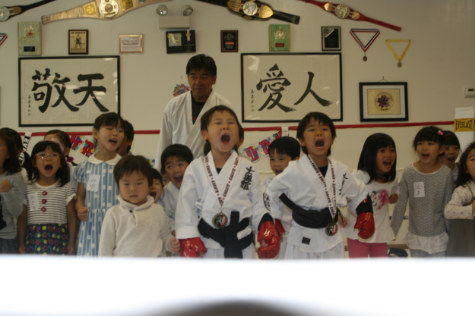 The birthday boys fought in the ring with Head Master Yasunori Matsumoto and got their well deserved medals !