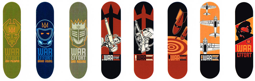 Deck Graphics For War Effort Skateboards