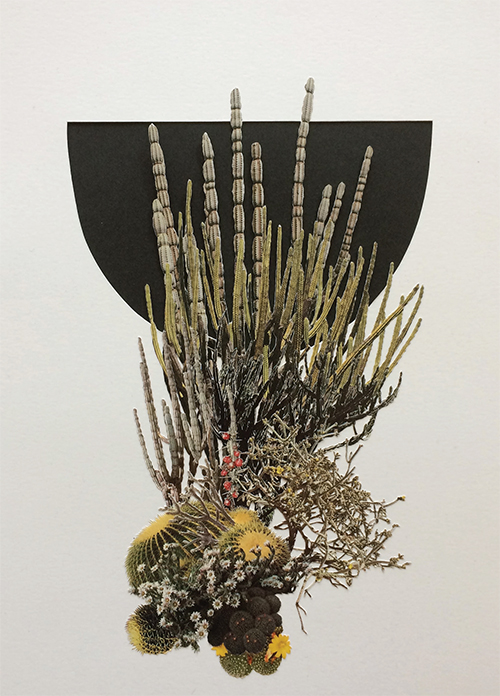 "Clump (Study), 2015 Collage on archival paper 12"" x 9"" by Stephen Eichhorn"