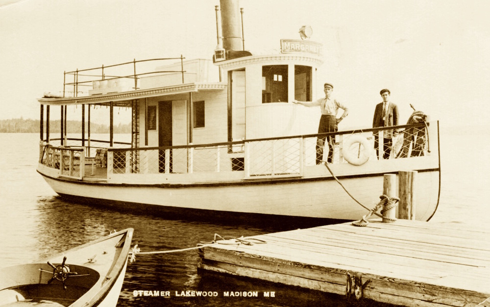 The Margaret B. Steamer on Lake Wesserunsett, Lakewood, Maine