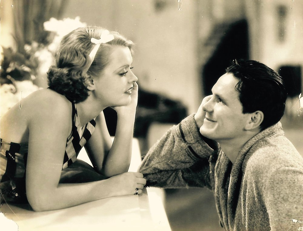 Warren Hymer with Sally Starr in a publicity still for the 1933 film,  In the Money  (Courtesy of Kelly Parmelee)