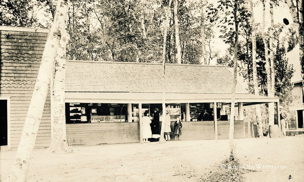 "The old Lakewood store and ""refreshment saloon"" (long before The Shanty was built at Lakewood)"
