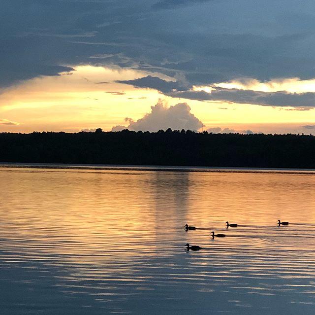 Summer storm on the lake... Enjoying the final few weeks of #lakelife #uptacamp