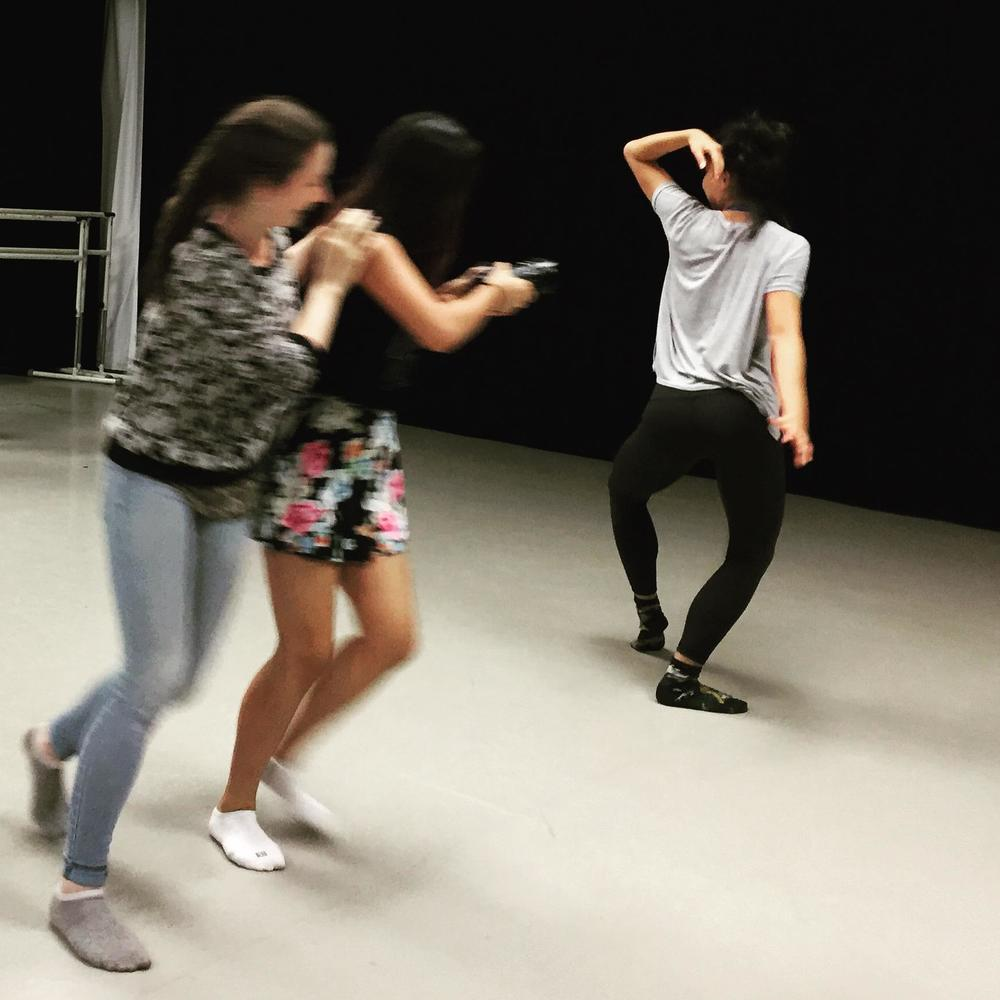 choreographing the camera class at NYU Tisch, 2015