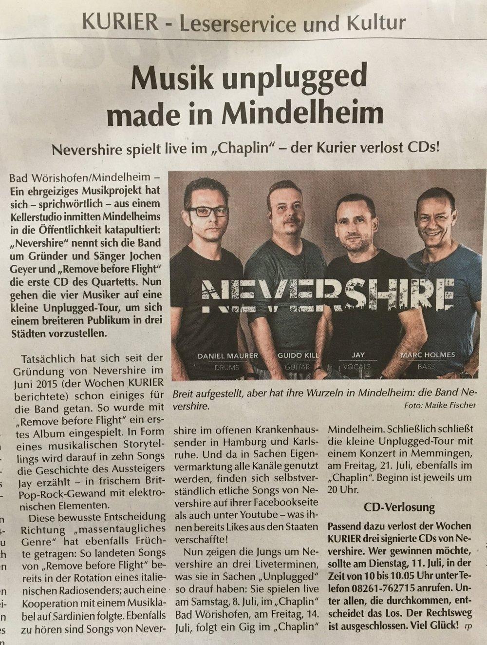 Quelle: Wochenkurier Mindelheim, Juli 2017