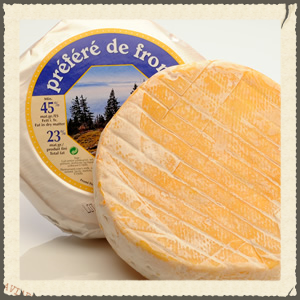 The earthiness of this Reblochon style cheese contrasts the flavors and complements the textures of the other two cheeses as well as the wine. Photo courtesy of http://www.cheezwhse.com/detail.php?id=415.