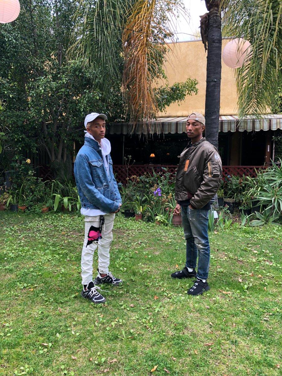 Jaden Smith (Left) & Pharrell Williams (Right)