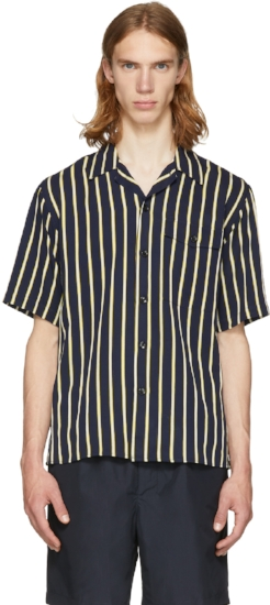 Stripe Short Sleeve Shirt, ($275) by AMI