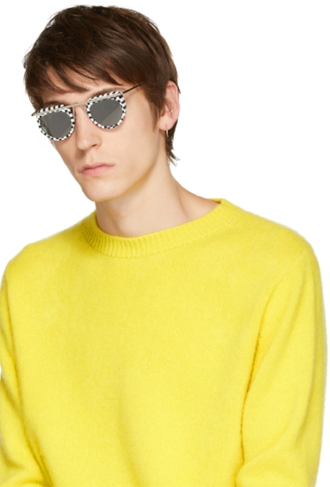 Aujourd'hui Checkered Sunglasses ($455), by Oliver Peoples pour Alain Mikli